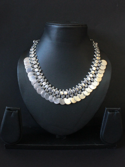 German Silver based Coin Necklace | kauracious.com