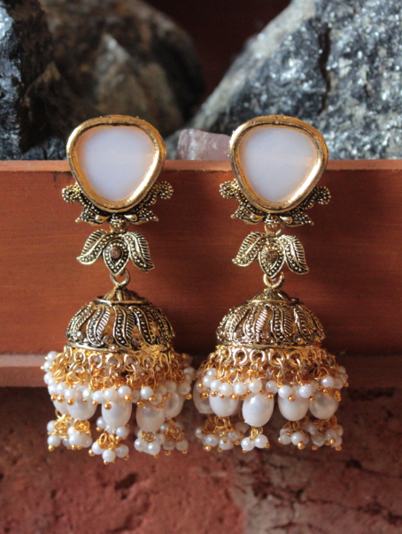 Beads Long Jhumka Earrings | kauracious.com
