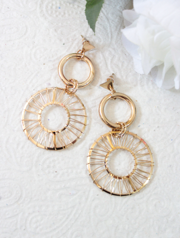 Disc Layered Fashion Earrings | kauracious.com