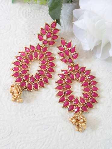 Traditional Pink Earrings | kauracious.com