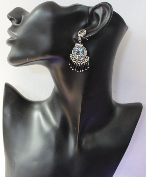 Alloy Danglers with smokey faux stones | Kauracious.com