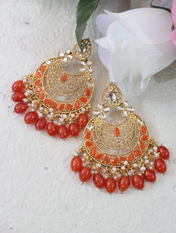Beads studded Traditional danglers | Kauracious.com