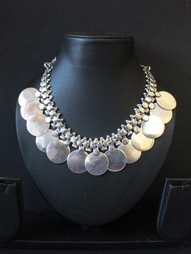German Silver Based Big Coin Necklace | kauracious.com