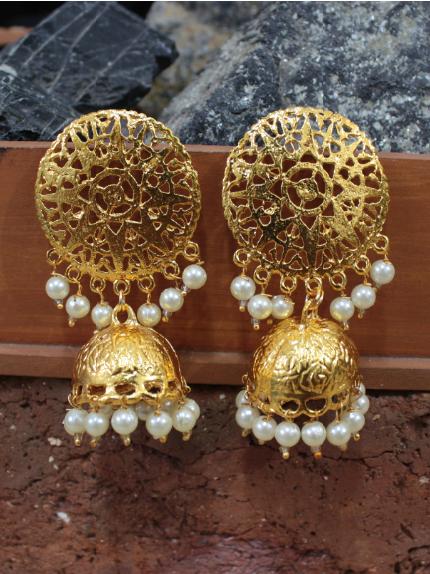 Dome Shape Coin Jhumka | Kauracious.com