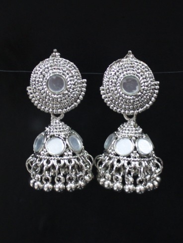 small sized mirror jhumki | kauracious.com