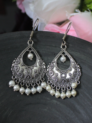Regular Wear German Silver Earrings | kauracious.com