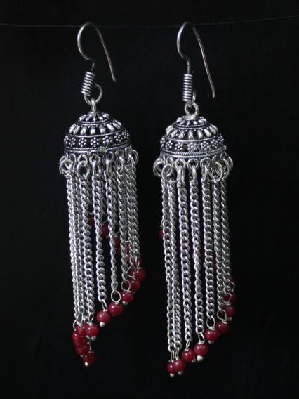 Chain Jhumki Earrings | Kauracious.com