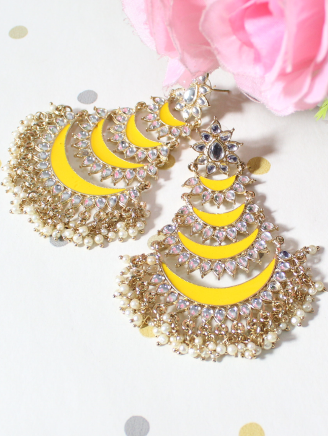 Five Layered Meenakari Traditional Earrings | kauracious.com