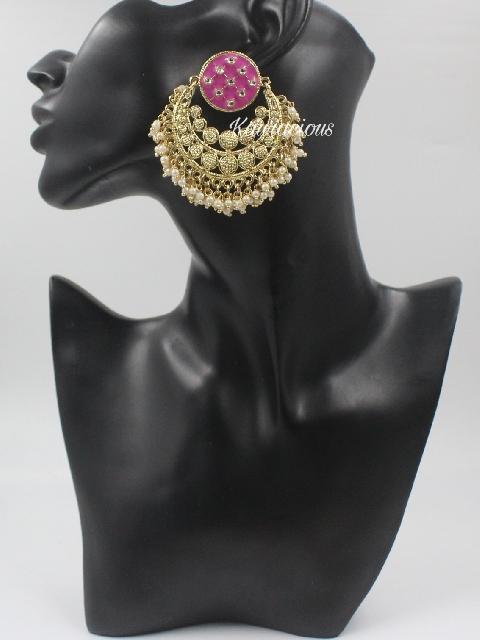 Traditional Oversized Stud Style Earrings | Kauracious.com