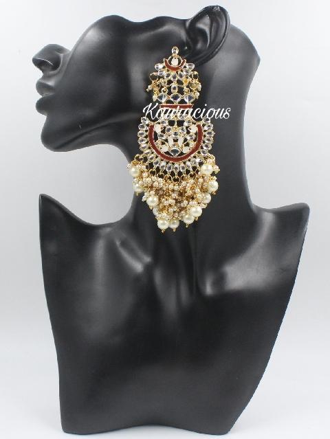Meenakari Jhalar Earrings | Kauracious.com