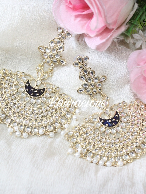 Deepika padukone style Kundan Earrings | Kauracious.com