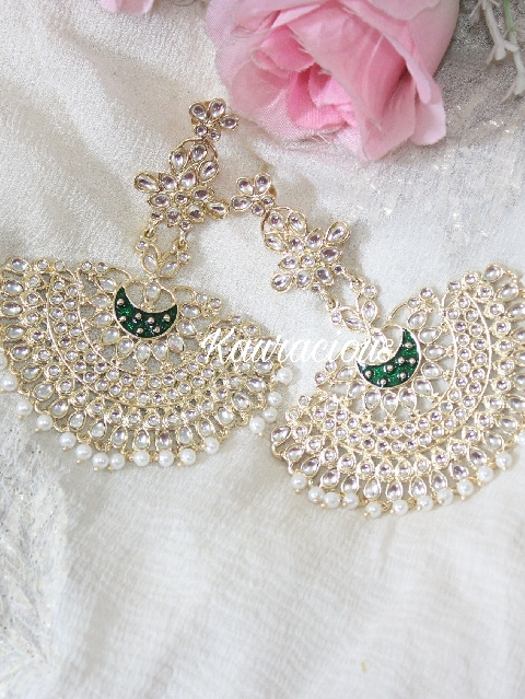 Deepika padukone style Kundan Earrings | kauracious.com