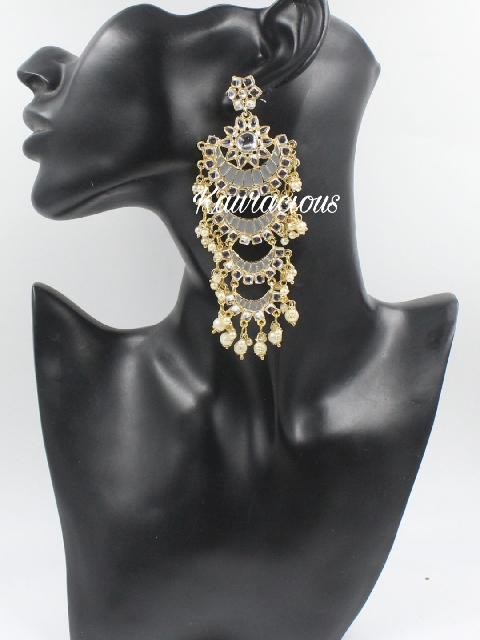 Layered Meenakari Danglers Earrings | Kauracious.com