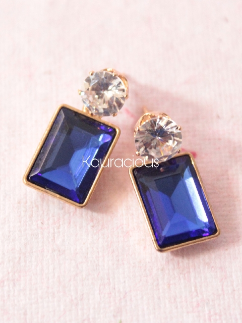 Small Sized Crystal Like Studs | kauracious.com