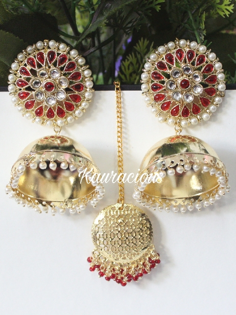 Dome shaped light weight jhumki earrings | kauracious.com