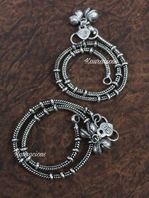 German SIlver based Anklets | kauracious.com