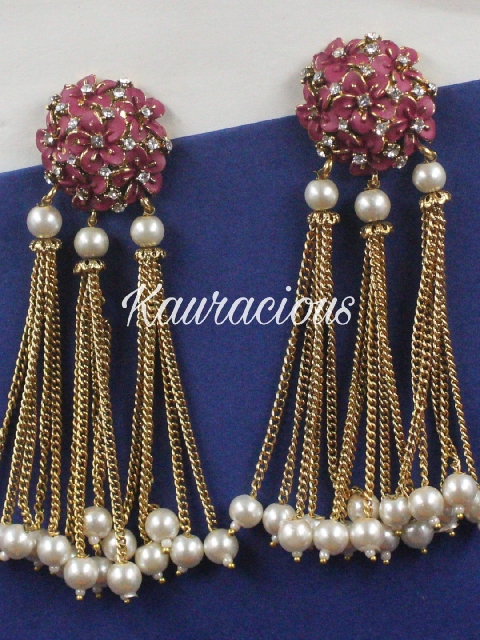 Copper based traditional Tassel earrings | Kauracious.com