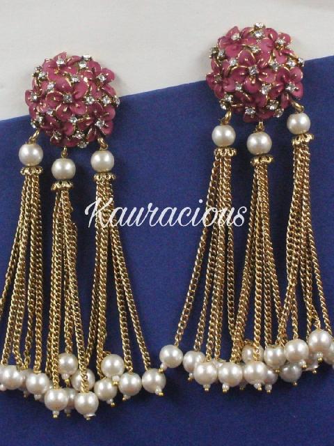 Copper based traditional Tassel earrings   Kauracious.com