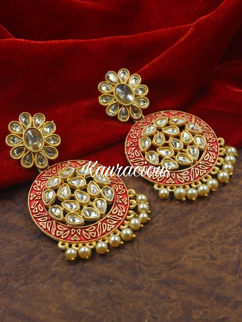 medium sized mint danglers earrings | kauracious.com