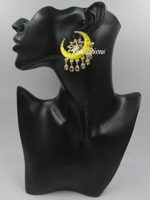 Moon shaped Oversized studs earrings | Kauracious.com