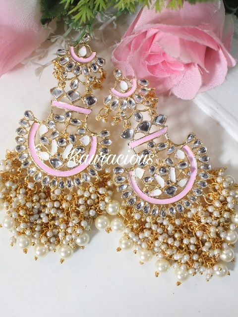 Meenakari Jhalar Earrings | Kauracious.com