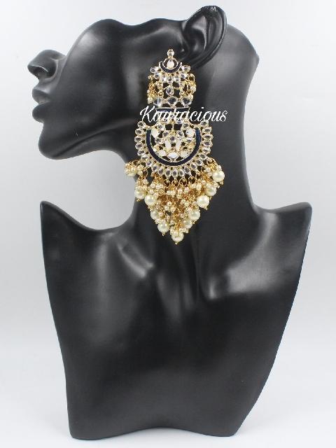 Meenakari Jhalar Earrings   Kauracious.com