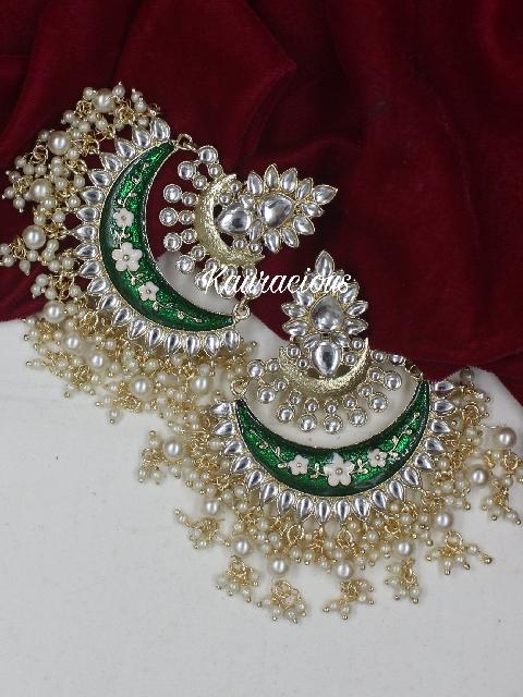 Oversized Chandbali Danglers Earrings   Kauracious.com