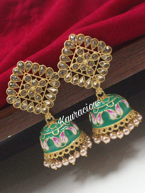 Meenakari Jhumki   kauracious.com