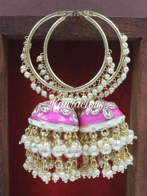 Big sized traditional hoops earrings   Kauracious.com