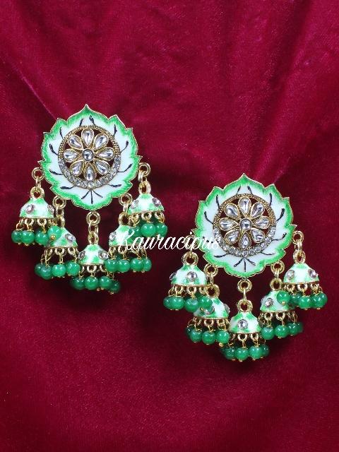 Five Jhumki Meenakari Earrings | Kauracious.com