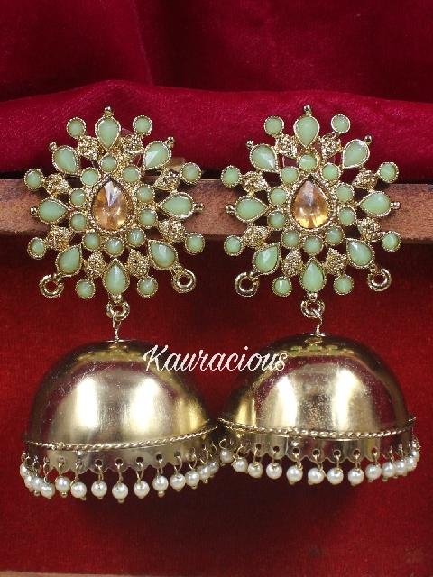 Oversized Jhumka Earrings | kauracious.com