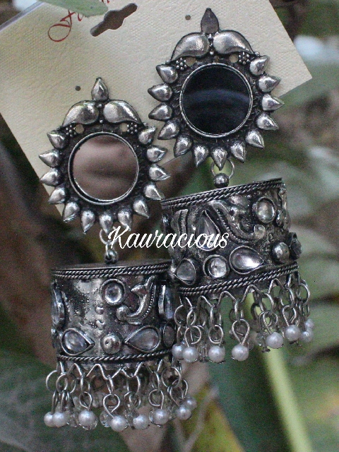Mirror Jhumka | kauracious.com
