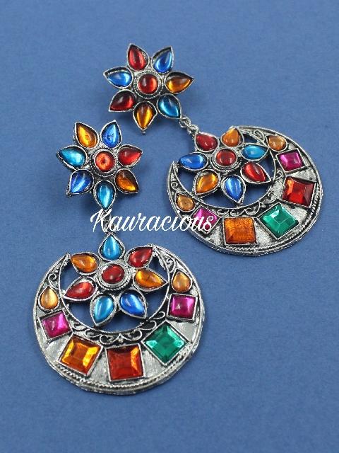 Multicolored Oxidized Danglers | Kauracious.com