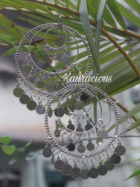 Oversized Chandbali Oxidized Earrings | kauracious.com