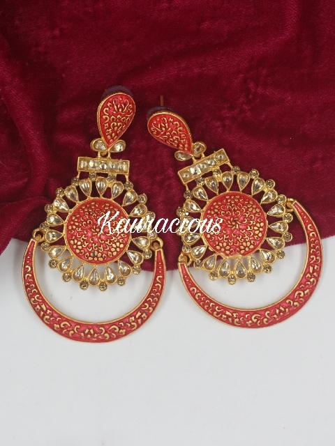 Matte Meena Traditional Earrings | Kauracious.com