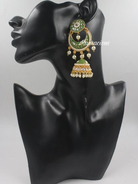 Long Meenkari Traditional Danglers | kauracious.com