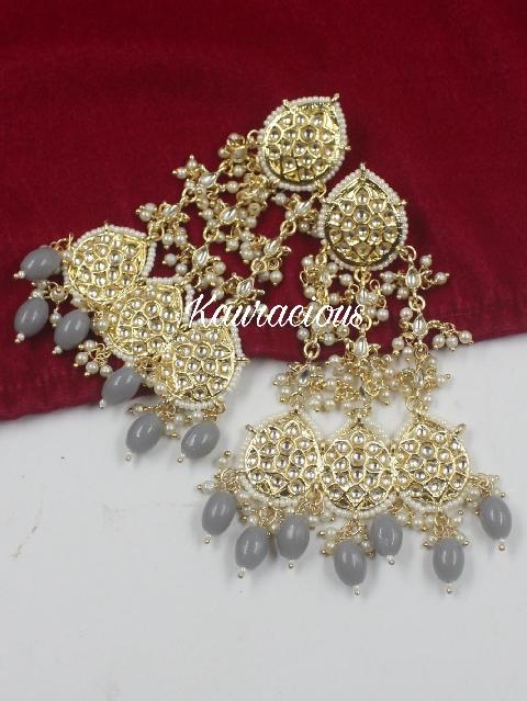 Big Sized Pearl Beaded Passa Earrings | Kauracious.com