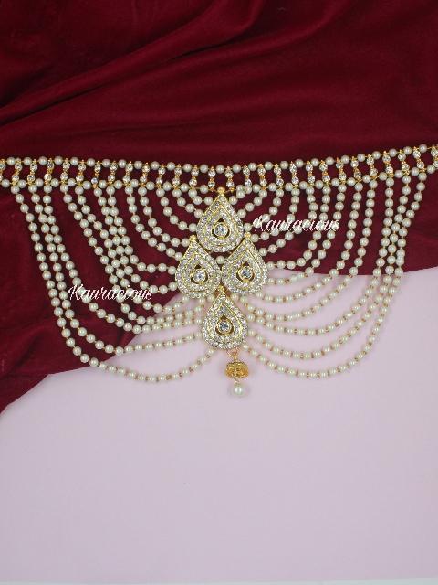 Pearl & Stone studded back Jewellery | kauracious.com
