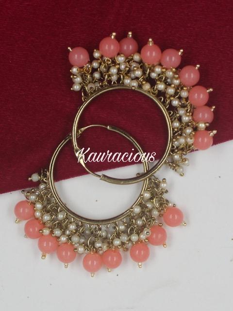 Pearly Traditional Hoop Earrings | kauracious.com