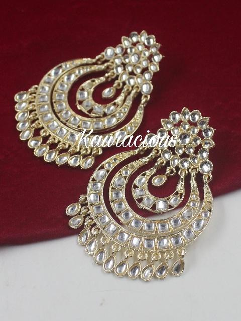 Traditional Kundan Danglers Earrings | kauracious.com