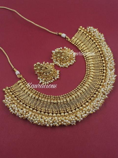 Mohini Necklace Set   kauracious.com