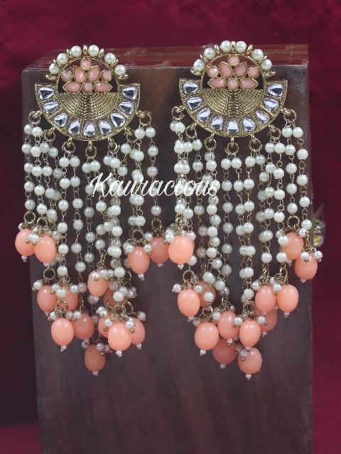 Pearl Layer Traditional Danglers | Kauracious.com