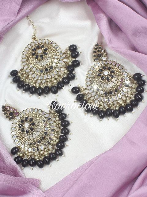 Shaheen Maangtikka & Earrings Set   Kauracious.com