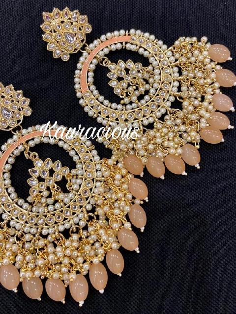 Oversized Meena Bahara Earrings   Kauracious.com