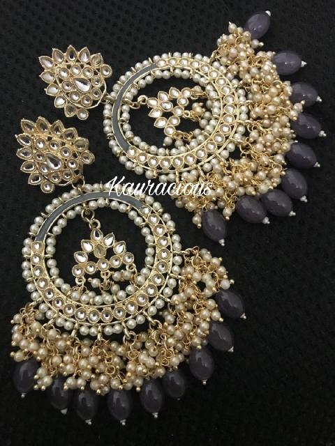 Oversized Meena Bahara Earrings | Kauracious.com
