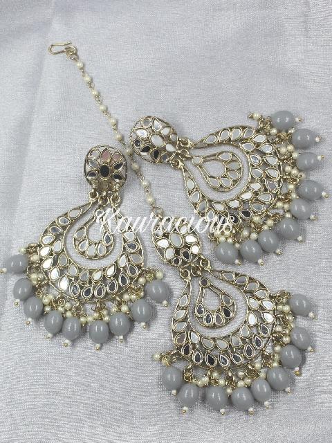 Sheesha Mangtikka And Earring Set | Kauracious.com