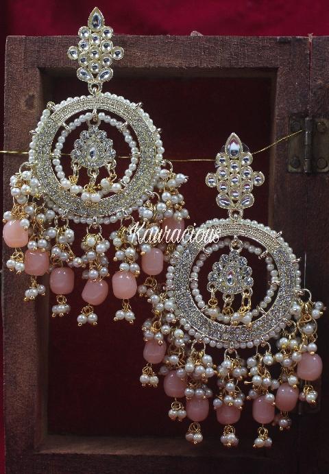 Bahara Traditional Earrings   kauracious.com