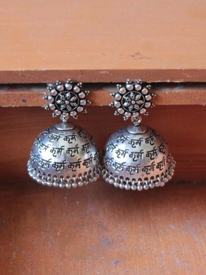 Karma Jhumki Earrings | Kauracious.com